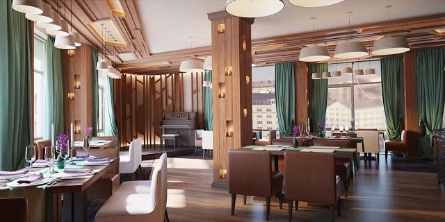 Projects dise o de restaurante en madera y aguamarina virlova style - Restaurantes de diseno ...