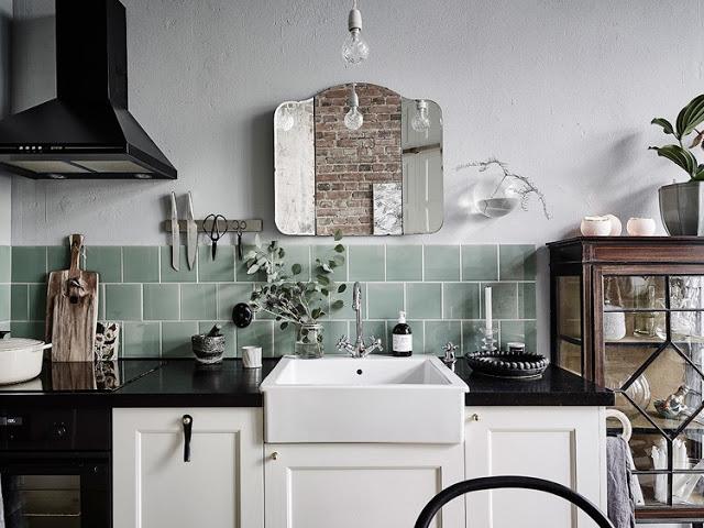 Interior cocina vintage tonalidades neutras virlova style - Cocinas retro vintage ...
