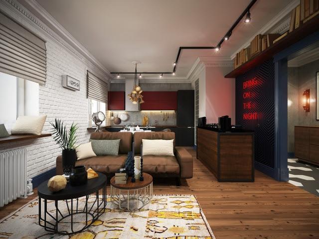 project apartamento de dise o tipo loft para un soltero