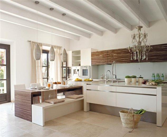 Deco tendencia en madera para la cocina virlova style for Cocina comedor 3x3
