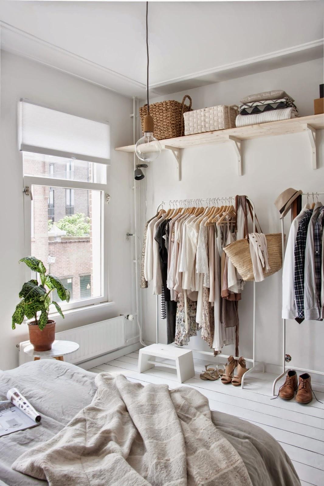 Deco crear un dormitorio con vestidor abierto virlova - Decoracion vintage dormitorios ...