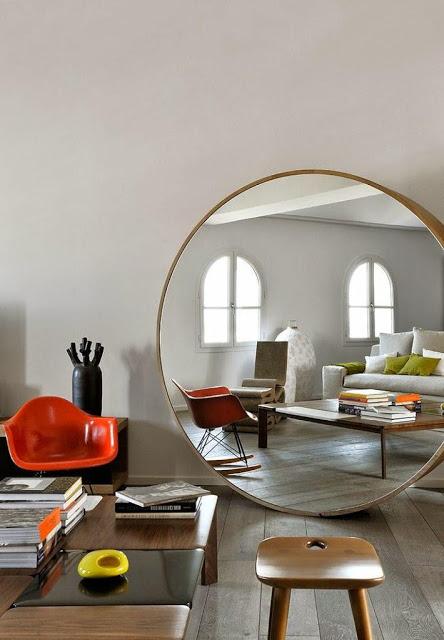 Decotips tips para decorar con espejos redondos for Espejos redondos grandes