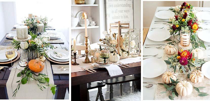 deco mesas de halloween con calabazas y elementos On decoracion mesa halloween