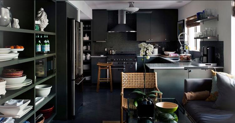 Decotips claves de dise o para una cocina en negro for Elemento de cocina negro
