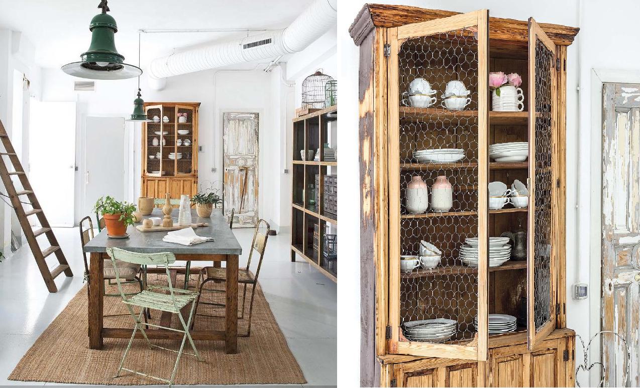 Interior loft de aire industrial y muebles vintage for Loft muebles