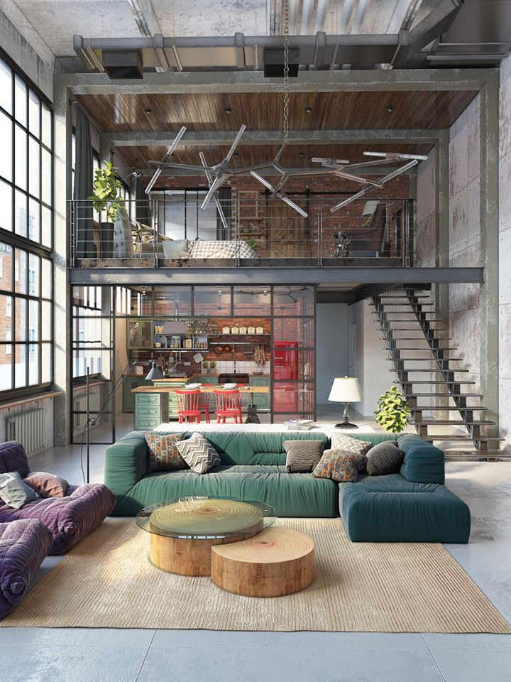 Reinvention of an industrial loft space home decor trends for Decoration loft