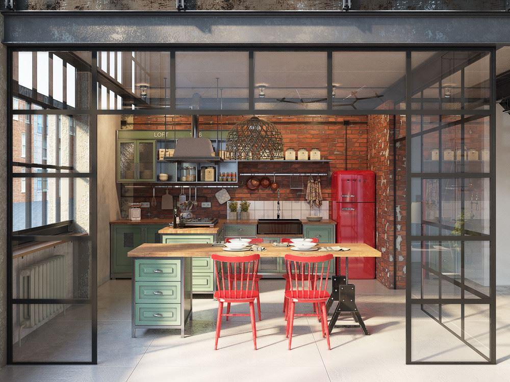 a modo de dplex el loft cuenta en planta baja con una cocina comedor comunicada en concepto abierto con una sala de estar un maravilloso rea de