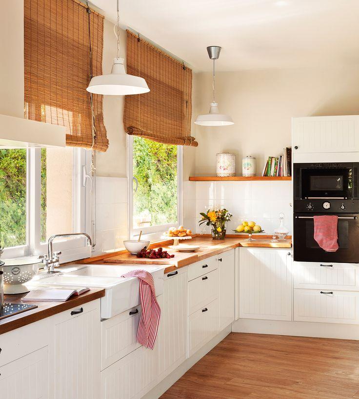 Decotips claves para ganar calidez en la cocina - Cortinas para cocinas rusticas ...