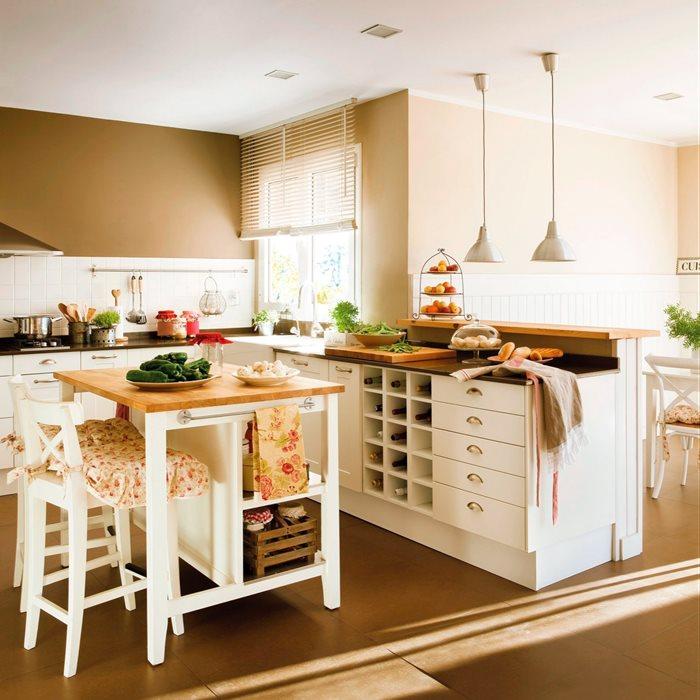 Decotips claves para ganar calidez en la cocina for Cocinas para pisos pequenos