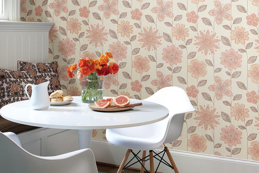 Decotips papel pintado en la cocina virlova style - Papel pintado en la cocina ...