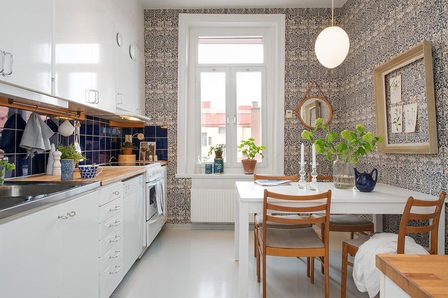 Decotips Papel Pintado En La Cocina Virlova Style - Papeles-pintados-para-cocinas