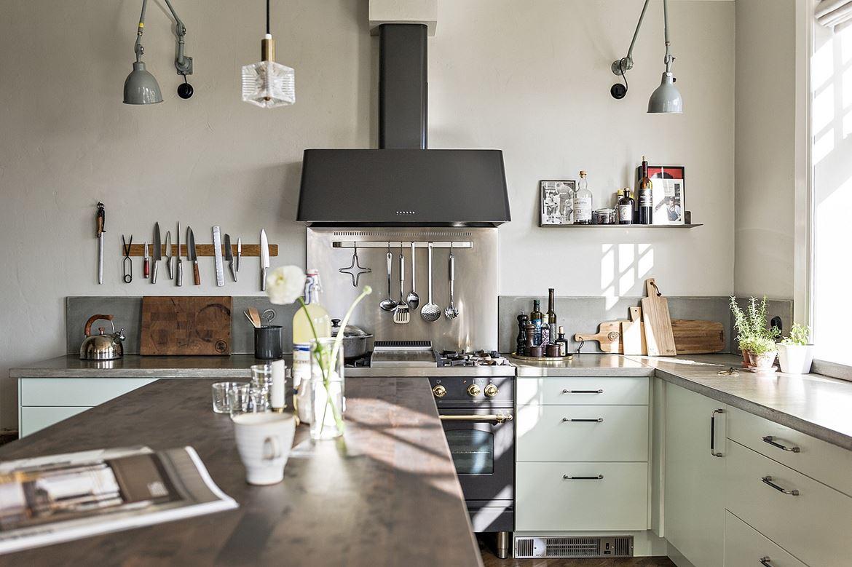 Interior un interior escandinavo en onda retro vintage - Cappa cucina a scomparsa ...