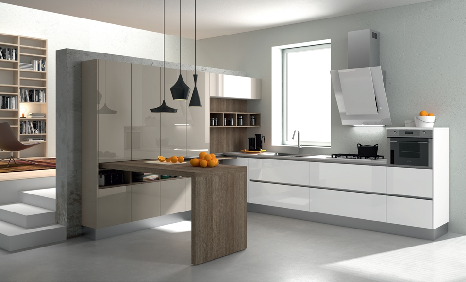 Decotips cocinas con isla en varias alturas virlova style for Diseno de cocinas minimalista