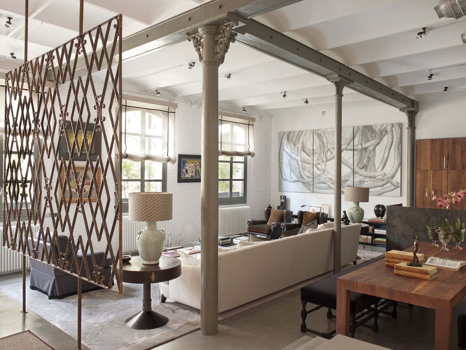 Interior loft industrial moderno en ny virlova style for Interior design moderno