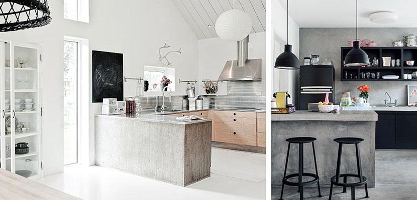 cocinas en cemento pulido virlova style