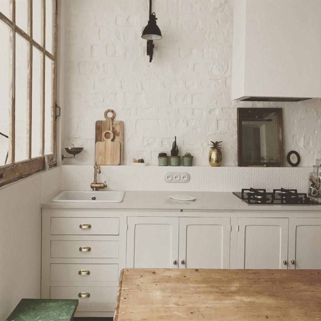 Decoración vintage y rústica en un antiguo taller de artistas